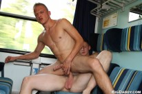 Getting Bareback Sex On Train from Out In Public