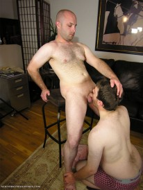 Servicing Chris from New York Straight Men