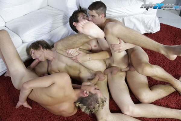 Daisy chaining group sex