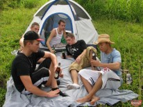 Outdoor 5 Guy Orgy from Broke Straight Boys