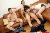 Double Blowjobs Double Fuck from Straight Boys Fucking
