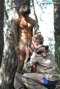 Alfresco Cock Sucking from Staxus