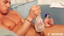 Michael Strokes His Uncut from Cocky Boys