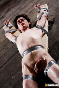 Blindfolded And Taped Down from Boynapped