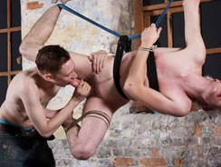 Strung Up And Cock Teased from Boynapped