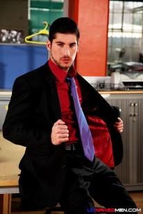 Leo Domenico In The Office from Uk Naked Men