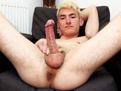 Blonde Will Arrives To Wank from Blake Mason