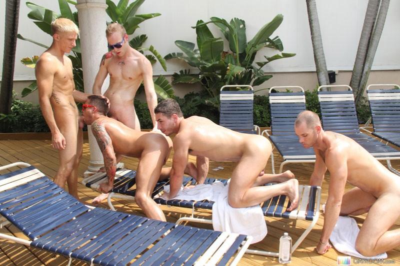 A gay orgy aj s bathhouse fun