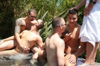 Outdoor Jacuzzi Orgy from Bath House Bait
