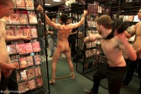 Hot Sex Shop Thief Fucked from Bound In Public