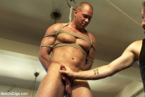 Bodybuilder Gets Edged from Men On Edge