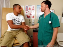 Dr Decker And Luis from College Boy Physicals