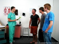 Group Sperm Donation from College Boy Physicals