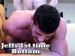 Jeffs 1st Time Bottom from Gay Hoopla