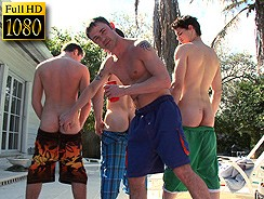Group Sex By The Pool from Ex Bf