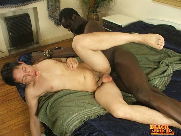 Twink rides black penis