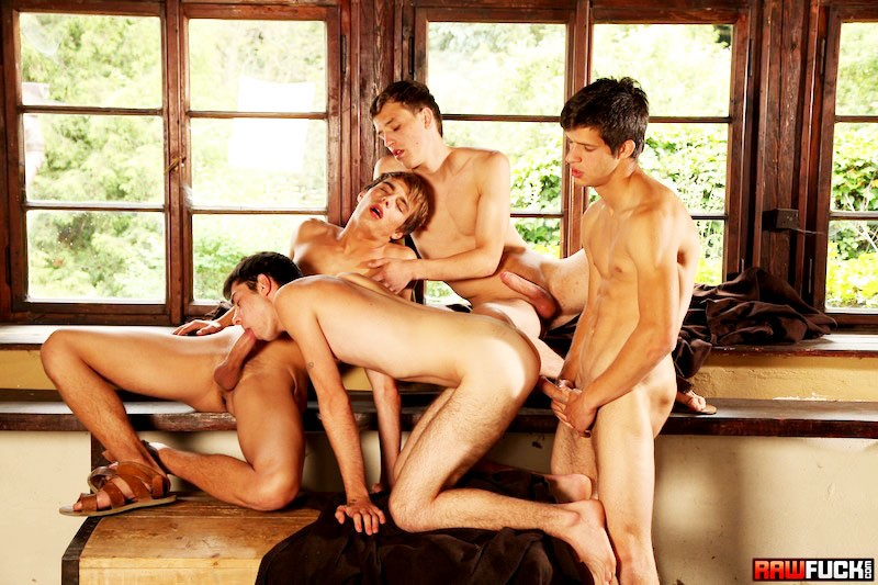 ... Hot Studs Secret Cabin Orgy from Raw Fuck ...