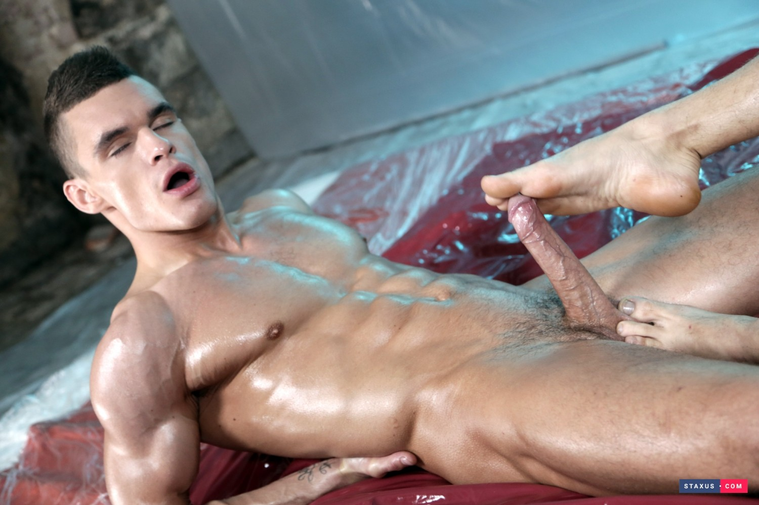 Oil Up Scene 2 From Staxus