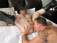 Boots In Bed from New York Straight Men