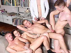 Cum Drenching Orgy from Teach Twinks