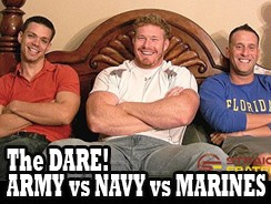 Army Vs Navy Vs Marines Porn from Straight Fraternity