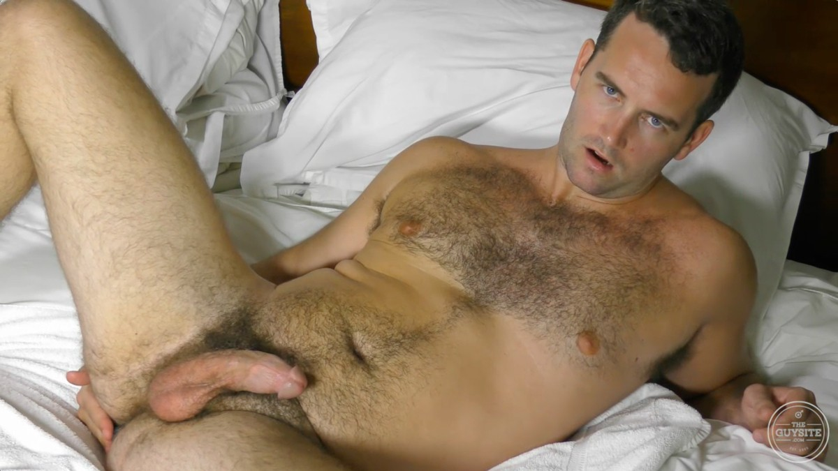 Nude hairy men masterbating — 13