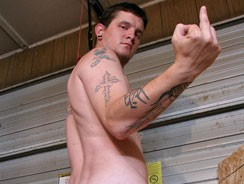 Hard Working Lad Lex Gets Nut from Straight Naked Thugs