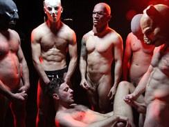 Satanic Gang Bang from Uk Naked Men