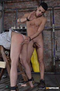 Straight Jacket And Spanking from Boynapped