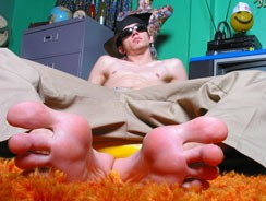 Straight Skater Boy Foot Show from Toegasms