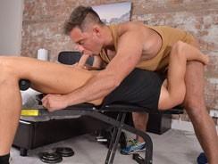 Gym Buddy Becomes A Fuck Bud from Blake Mason