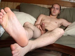 Cum Drips From His Naked Foot from Toegasms
