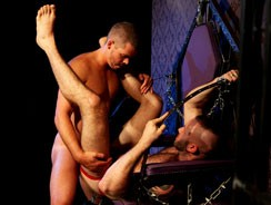 Riding The Pole from Uk Naked Men