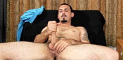 Geovanni Jacks His Uncut Cock from Straight Fraternity