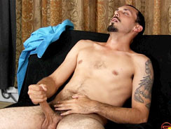 home - Geovanni Jacks His Uncut Cock from Straight Fraternity