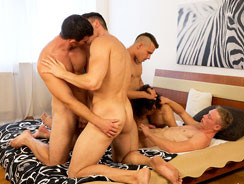 Wank Party 100 Part 1 from William Higgins