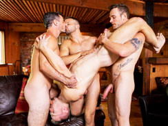Deacons Bareback Gangbang from Sean Cody