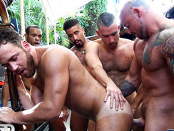 Logan Moore Gang Bang from Naked Sword