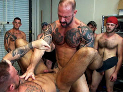 Michael Romans Gang Bang from Naked Sword