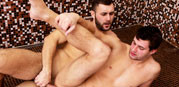 Bareback Bathhouse Boner from Behind Friends