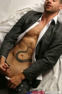 Snake Strokes Off from Uk Naked Men
