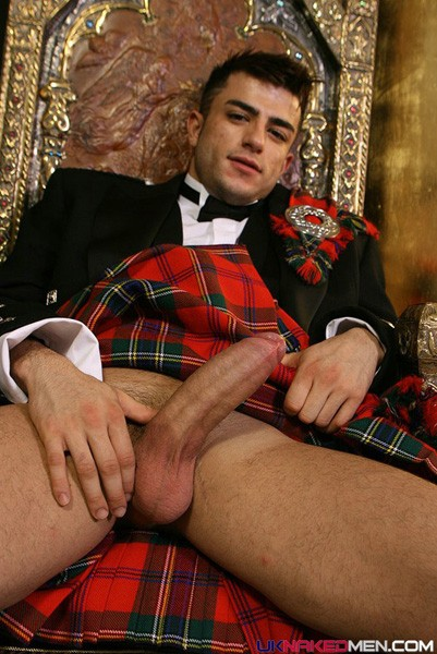 in kilt men naked