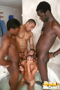 3 Black Men In A Tub from Black Machines