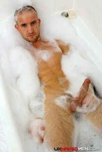 Harris In The Bath With Bubbles from Uk Naked Men