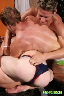 Piss Wrestling from Boys Pissing