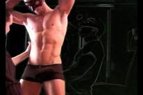 Stripshow from Maskurbate