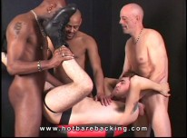 Interracial Gangbang from Hot Barebacking