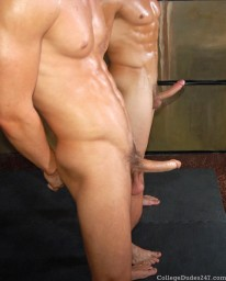 Troy And Leo Oil Wrestle from College Dudes