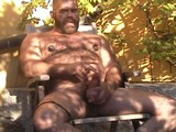 Daddy Bear Jacks Off