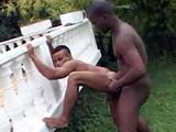Interracial Outdoor Se